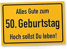 DankeDir! 50. Geburtstag Stadtschild - Kunststoff