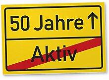 DankeDir! 50 Jahre (Aktiv) Kunststoff Schild -