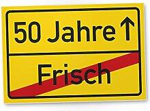 DankeDir! 50 Jahre (Frisch) Kunststoff Schild -