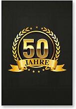 DankeDir! 50 Jahre Gold, Kunststoff Schild -