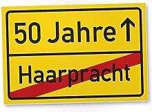 DankeDir! 50 Jahre (Haarpracht) Kunststoff Schild