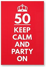 DankeDir! 50 Jahre Keep Calm Party on, Kunststoff