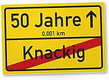 DankeDir! 50 Jahre (Knackig) Kunststoff Schild -