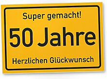 DankeDir! 50 Jahre Stadtschild/Kunststoff Schild -