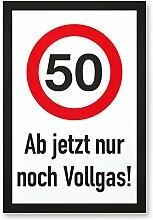 DankeDir! 50 Jahre Vollgas - Kunststoff Schild,
