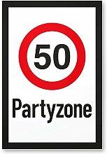 DankeDir! 50 Partyzone - Kunststoff Schild,