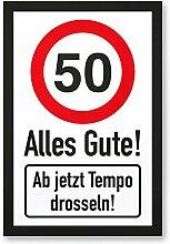 DankeDir! 50 Tempo Drosseln, Kunststoff Schild -