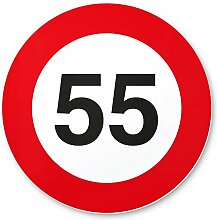DankeDir! 55 Geburtstag Verkehrsschild -
