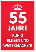 DankeDir! 55 Jahre, Ruhig bleiben - Geschenk 55.