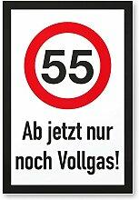 DankeDir! 55 Jahre Vollgas - Kunststoff Schild,