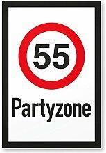 DankeDir! 55 Partyzone - Kunststoff Schild,