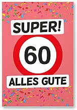 DankeDir! 60 Alles Gute - Kunststoff Schild