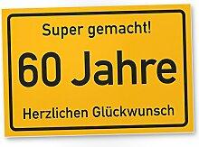 DankeDir! 60 Jahre Stadtschild/Kunststoff Schild -