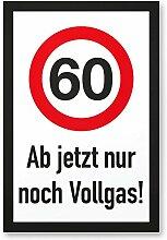 DankeDir! 60 Jahre Vollgas - Kunststoff Schild,
