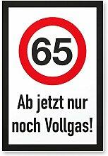 DankeDir! 65 Jahre Vollgas - Kunststoff Schild,