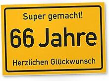 DankeDir! 66 Jahre Stadtschild/Kunststoff Schild -