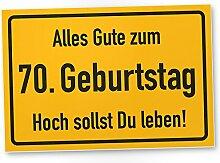 DankeDir! 70. Geburtstag Stadtschild - Kunststoff