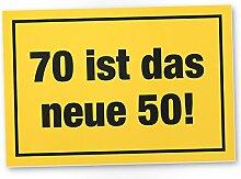DankeDir! 70 ist Das Neue 50- Kunststoff Schild,