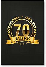 DankeDir! 70 Jahre Gold, Kunststoff Schild -