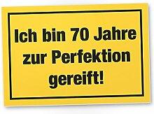 DankeDir! 70 Jahre Perfektion, Kunststoff Schild -