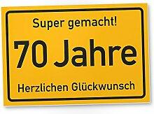DankeDir! 70 Jahre Stadtschild/Kunststoff Schild -