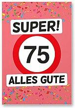 DankeDir! 75 Alles Gute - Kunststoff Schild