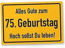 DankeDir! 75. Geburtstag Stadtschild - Kunststoff