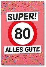 DankeDir! 80 Alles Gute - Kunststoff Schild