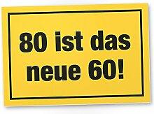 DankeDir! 80 ist Das Neue 60- Kunststoff Schild,