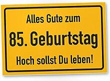 DankeDir! 85. Geburtstag Stadtschild - Kunststoff