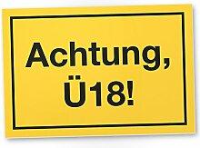 DankeDir! Achtung Ü18 Kunststoff Schild, Geschenk