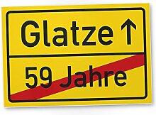 DankeDir! Glatze (59 Jahre) Kunststoff Schild -