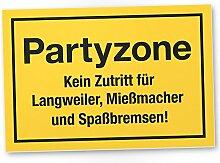 DankeDir! Partyzone, Kunststoff Schild mit Spruch