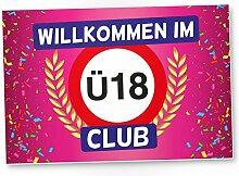 DankeDir! Ü18 Club - Kunststoff Schild (rosa),