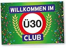 DankeDir! Ü30 Club - Kunststoff Schild (grün),