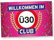 DankeDir! Ü30 Club - Kunststoff Schild (rosa),