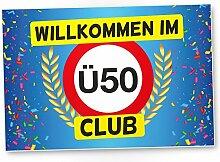 DankeDir! Ü50 Club - Kunststoff Schild (Blau),