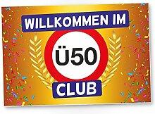 DankeDir! Ü50 Club - Kunststoff Schild (Gelb),