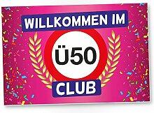 DankeDir! Ü50 Club - Kunststoff Schild (rosa),