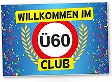 DankeDir! Ü60 Club - Kunststoff Schild (Blau),