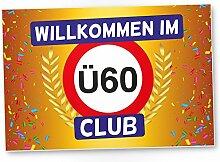 DankeDir! Ü60 Club - Kunststoff Schild (Gelb),