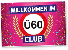 DankeDir! Ü60 Club - Kunststoff Schild (Rosa),