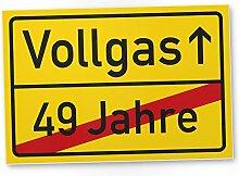 DankeDir! Vollgas (49 Jahre) Kunststoff Schild -
