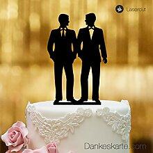 Dankeskarte.com Cake Topper Mr&Mr - für die