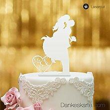 Dankeskarte.com Cake Topper Sprung - für die