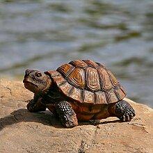 Danmu 1 Stück Polyresin Schildkröten-Statue,