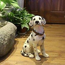 Danmu Statue Dalmatiner-Hund aus Polyresin,
