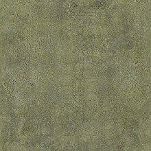 danslemur 1004–5Tapete TNT Holzoptik-Krokodilleder gemischt mit in Beton, Grün