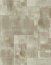 danslemur 2055–6Vliestapete TNT, Textur Messing Glanz, farbe Kupfer