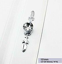 Danspeed Schubladenknöpfe, Türknauf, Diamant, Kristall, Glas, 121mm